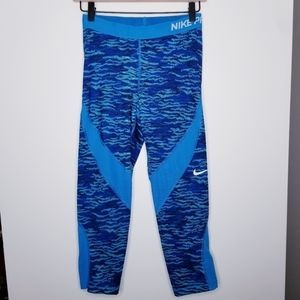 Nike Pro Blue Running Tights Size M